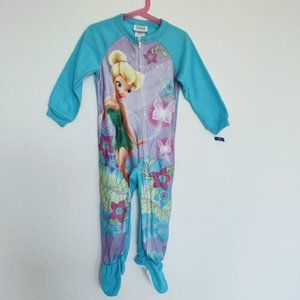 NWOT Disney Tinker Bell Size 4 Footed Sleepwear.